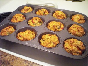 Cheese and broccoli muffins
